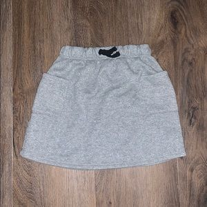 Grey skirt with small silver specks